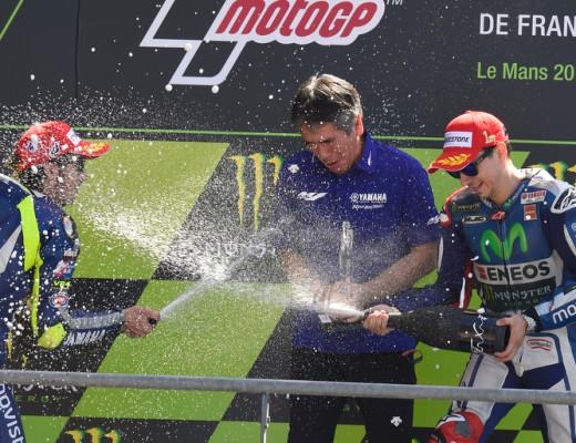 Movistar Yamaha MotoGP's Jorge Lorenzo and Vanetino Rossi